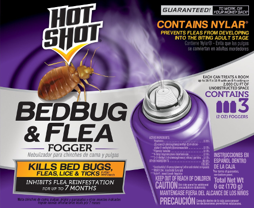 Hot Shot 95911 Bedbug and Flea Fogger