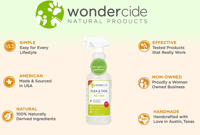 Wondercide Natural Flea, Tick & Mosquito Spray for Home